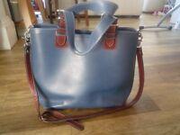 Large Blue DANIEL leather shoulder bag