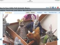 How to sew little felt animals book