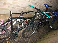 cycles for spares or repair damaged adult size only mountain and road bikes fair prices paid