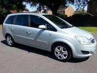 2009 '09' Vauxhall Zafira 1.6 Exclusive Genuine 55k Mot April 17 7 Seater galaxy sedona previa
