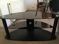 Free Black glass corner tv stand