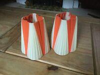Pair of vintage lampshades