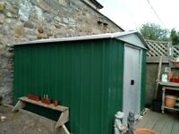 9ft by 7ft. Metal garden shed