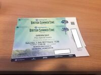 Two tickets to Green Day @ Hyde Park (BST) - 1 July 2017 - £50 each