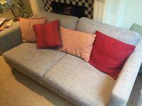 Ikea Karlstad 2 Seater Sofa with Isunda grey cover