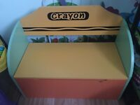 Childrens toy box and bench