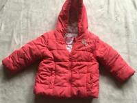 Young dimension baby girl puffy jacket age 9-12mth used ex condition £3