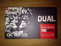 ASUS Dual Radeon RX580 8gb OC Graphics Card £325