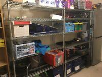 6 Tier chrome Storage Units