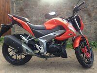 Kymco ck1 125cc 2016 orange motorcycle