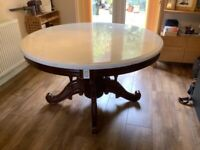 Marble Top Circular Dining Table