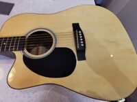 Left Handed Semi Acoustic Guitar by Chase