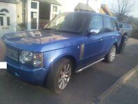 Rare blue Land Rover, RANGE ROVER, Estate, 2003, Other, 2926 (cc), 5 doors