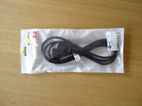 Swiss Style Plug Power Mains Cable