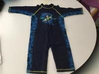 Two little boys all in one swimsuits age 2-3 years £6