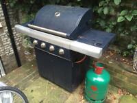 4 burner BBQ by Jamie Oliver with wok burner inc cover