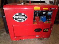 BDE6700T3 400/230v Diesel Generator. Silent running..