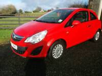 2012 Vauxhall Corsa 1.0 Ecoflex, 3dr, Red, full service history, £30 road Tax, finance available