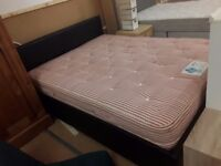Double bed leather