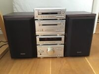 Stereo system Technics SC-HD301 stacking hifi CD, cassette,radio,speakers