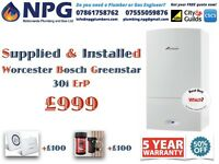 SUPPLY & INSTALLATION Worcester Bosch Greenstar 30i ErP Combi *£999 *50% OFF* Limited Stocks Only*