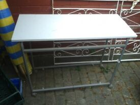 "THIN 15"" X 40"" X40""TABLE DESK WORK SURFACE, SMALL SPACE PERFECT IN 6X 4 SHED, PLATFORM SHELF SUPPORT"
