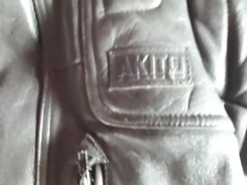 Akita leather bike jacket