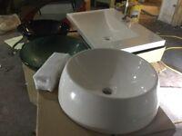 NEW Bathroom suites Kohler basins, shower units, storage solutions, cabinets