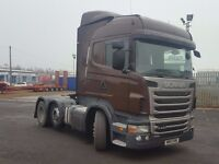 2013-13plate scania r440 highline auto 6x2 midlift tractor unit great spec low klms
