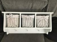 Nursery shelf with baskets