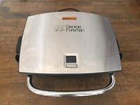 GEORGE FOREMAN 14525 4 PORTION FAMILY GRILL, REMOVABLE PLATES, TIMER