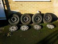 Wheals and tyres fit to VW Golf Mk4 alloys/steel