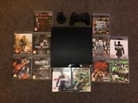 **Like New** Playstation 3 with 12 games, controller and official PS3 headset