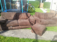 2 / 3 seater sofa with poffie