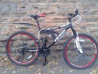 Boss Dominator Dual Suspension Double Disc Brake Mens Mountain Bike - RRP £299