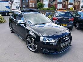 2010 AUDI S3 2.0 TFSI S-A DSG BLACK EDITION 5 DOOR SPORTBACK BLACK PAN ROOF LOW MILEAGE MILTEK