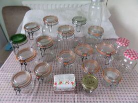 Preserve and Storage Jars various sizes.