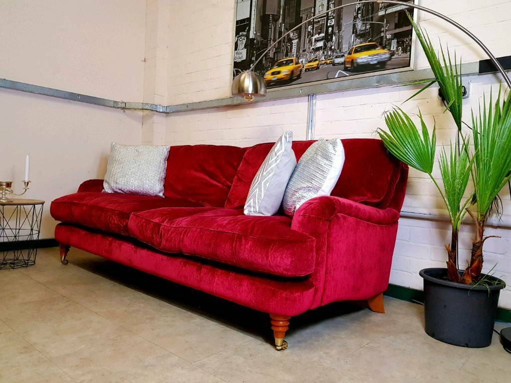 Laura Ashley Lynden 2 Seater Sofa In Caitlyn Cranberry Rrp 1600
