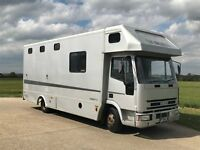7.5t Iveco-Ford horsebox with living