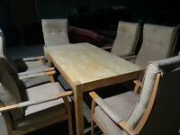 TABLE AND 6 CHAIRS SET