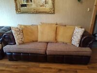 beautiful 3 piece suite and footstool