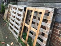 Free crates wood fire wood or for DIY 8 of them all together