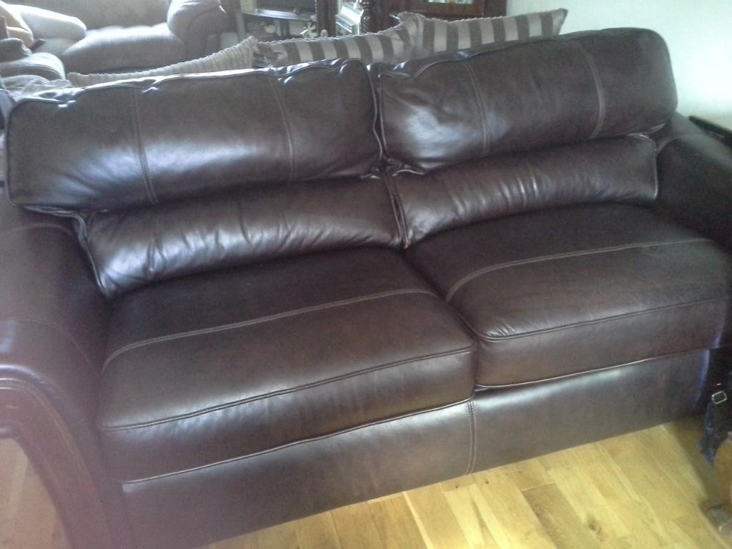 3 seater brown leather sofa bed in lisburn county for Sofa bed 3 seater leather
