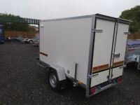 NEW TRAILER BOX single axle with brakes 250 cm X 150 cm X 150 cm