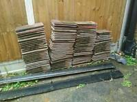 Approximately 120 clay roof tiles for sale