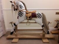 Victorian style wooden rocking horse