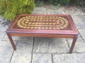 G PLAN coffee table TILED TOP vintage RETRO 1960 1970 ROSEWOOD TEAK