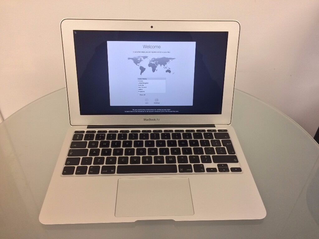 """Macbook Air 11late 2010, 1.4Ghz, 2GB RAM, 128GB macOS Sierrain Chertsey, SurreyGumtree - Macbook Air 11"""" late 2010, 1.4Ghz, 2GB RAM, 128GB SSD Upgraded to latest macOS Sierra and completely wiped ready to setup for a new owner Small bit of nail polish on screen as shown in picture, rest of the case is very good condition with only a..."""