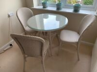 Bistro style dining table and 4 chairs