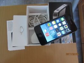 Apple Iphone 4 -8GB- Black Unlocked Smartphone boxed wit 2hard cases excellent mint condition